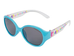 Sonnenbrille blau transparent mit Blumen