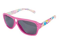 Sonnenbrille pink mit Farklecksen