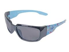 Sonnenbrille schwarz-blau mit Schmetterling