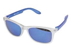 Sonnenbrille verspiegelt transparent