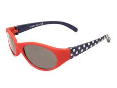 Flex Sonnenbrille rot gepunktet