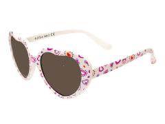 Flex Sonnenbrille Herzform weiß