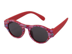 Sonnenbrille FL rot Blumen