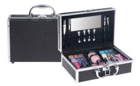 Aluminium Kosmetikkoffer schwarz/glitter