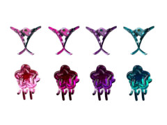 Haarklammer Blume 4 Farben 2 cm