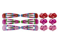 Set HG u.CC-Clip mit Herz 3 Farben