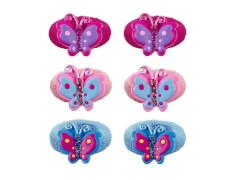 Haarg. mit Schmetterling 3 Farben