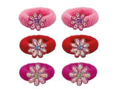 Haargummi mit Blüte 3 Farben