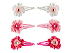 CC-Clip mit Blume 3 Farben 4 cm