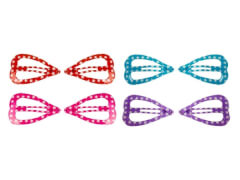 CC-Clip Herzform 4 Farben  4 cm