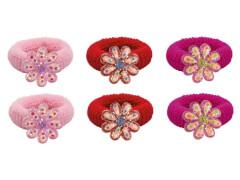 Haargummi mit Blume 3 Farben