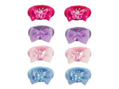 Haargummi mit Butterfly 4 Farben