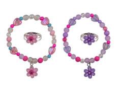 Set Armband + Ring Blume 2 Farben
