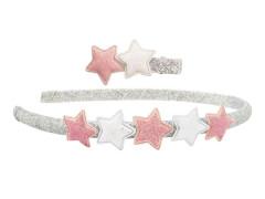 Set Haarband + Clip mit Sternen