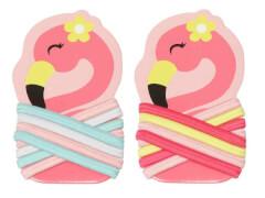 Haargummi Set Flamingo 2 Farben