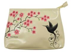 Kulturtasche - Kolibri beige