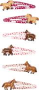 Haarclips Pferdefreunde, sortiert
