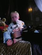 Steiff Plüschtier-Kofferset mit Teddybär, Plüsch, ca. 28 cm, weiß