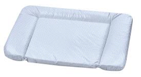 Wickelauflage  Kuschel Streifen blau 75 x 85 cm