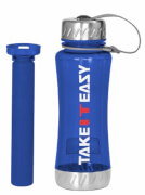TAKE IT EASY Getränkeflasche 650 ml blau