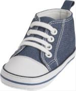 Playshoes Canvas-Turnschuh, blau, Gr. 18