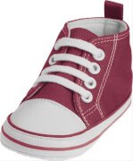 Playshoes Canvas-Turnschuh, rot, Gr. 18