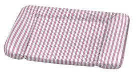 Wickelauflage  Kuschel Blockstreifen, rosa 75 x 85 cm