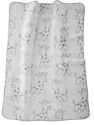 Baumwolldecke Giraffe, grau 75 x 100 cm