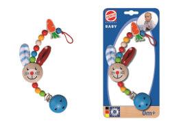 Simba Eichhorn Baby, Schnullerkette mit Clip