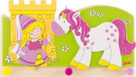 GoKi Garderobe Kleine Prinzessin mit Einhorn