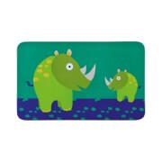 Lässig Dish Breakfast Board Melamine Wildlife - Rhino