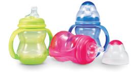 N#by Trinklernflasche mit auslaufsicherem No-Spill Flaschensauger, 240ml