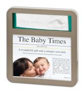Baby Art Newsprint Frame Taupe & Azur/