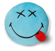 NICI Kissen Smileyworld blau 35cm