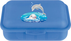 Brotbox + 1 Teiler Bild Delfine
