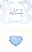 MAM Original Silikon I love mummy Boy ab 0 Monate