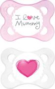 MAM OriginalSilikon I love mummy girl ab 0 Monate