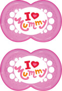 MAM OriginalSilikon I love mummy girl ab 6 Monate