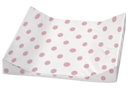 Wickelauflage  2stg. Keil Schlafmütze, rosa 68 x 60 cm