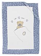 Microfaser Decke Little Bear, blau 75 x 100 cm