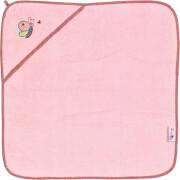 Die Spiegelburg - BabyGlück Kapuzenbadetuch, rosa, ca. 75 x 75 cm, ab 3 Monate - 3 Jahre, 100% Baumwolle