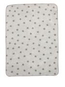 ALVI Baumwolldecke Sterne grau ca. 75 x 100 cm