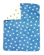 ALVI Baumwolldecke Sterne blau ca. 75 x 100 cm