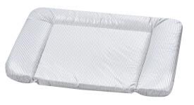 Wickelauflage  Kuschel Streifen, grau 75 x 85 cm