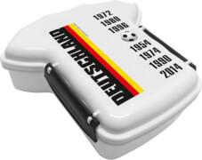 Brotdose Trikot Deutschland Jahreszahlen mit 2seitigem Clipverschluss