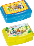 Die Spiegelburg - Die Lieben Sieben Mini Snackboxen, 2 Stück, gelb und blau, ca. 8 x 5 x 4 cm, Bisphenol A frei