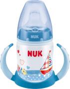 NUK Babyglück Trinklernflasche FC PP 150 ml, blau