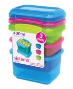 Lunchbox 400 ml 3er Set