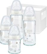 NUK First Choice Flaschen-Set Glas / Silikon