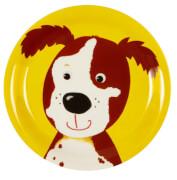Die Spiegelburg - Freche Rasselbande Kleiner Melamin-Teller Hund. ca. 17 cm